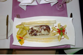 Angus Rumpsteak mit Spargel